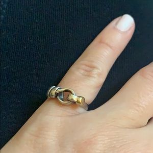 Tiffany & Co. Jewelry - TIFFANY & CO. Silver Knot Ring with 18K Gold Ball